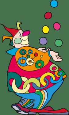 Clown Set Vector Art png