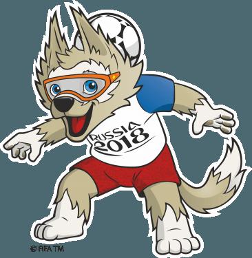 2018 FIFA World Cup Logo & Mascot   Zabivaka Logo [fifa.com] png