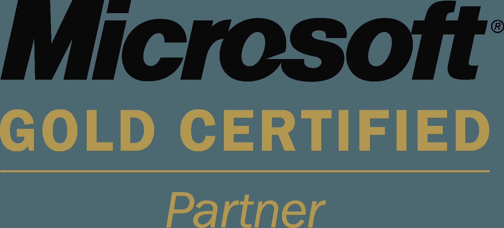 Microsoft Gold Certified Partner Logo png