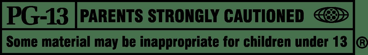 PG 13 Rating Logo