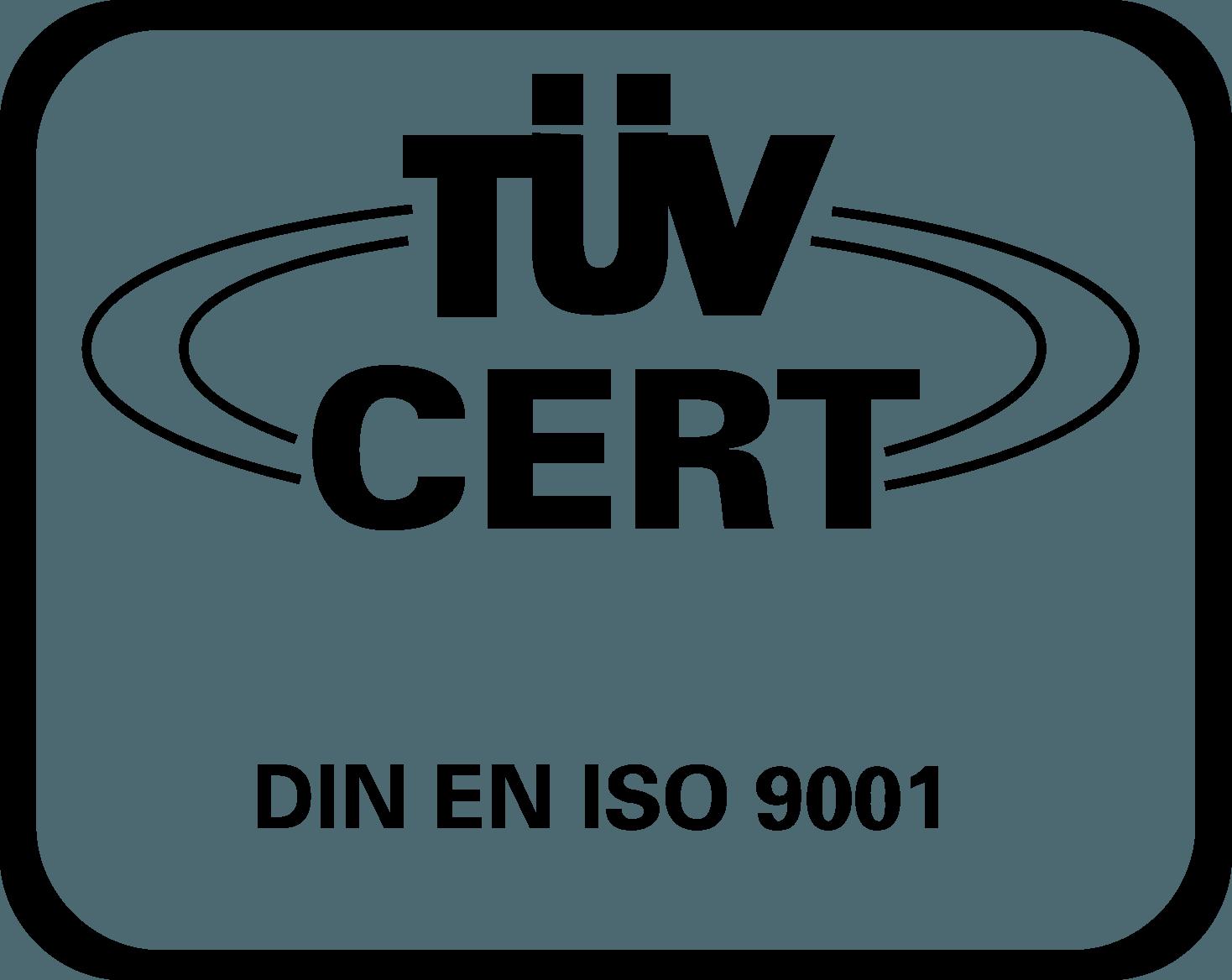 TUV Cert Logo [ISO 9001] png