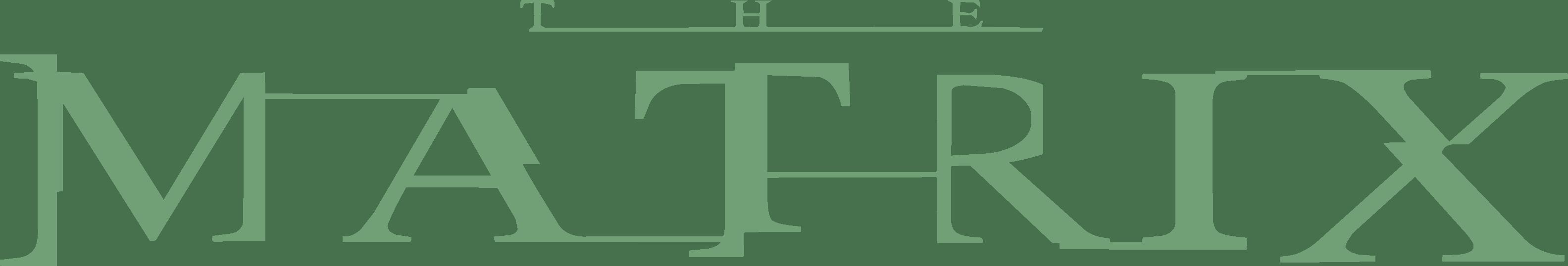 The Matrix Logo png