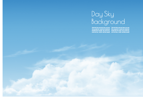 Day sky with white clouds background png