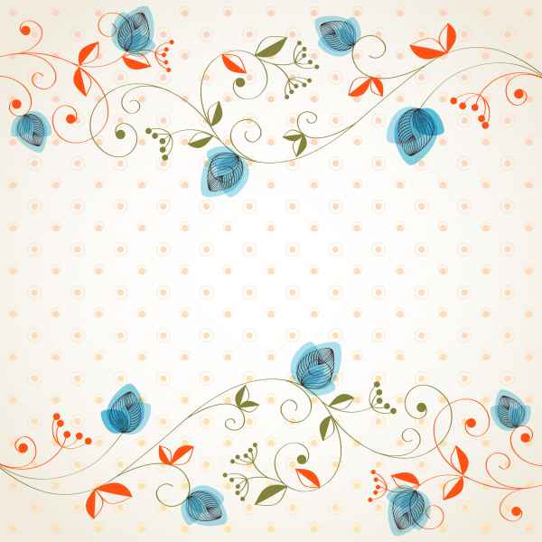 Draw Cartoon Flower Background 3