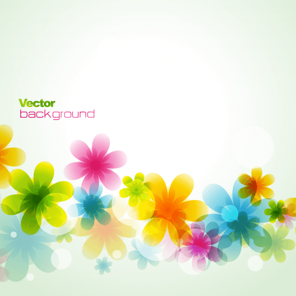 Dream spring flowers background 02 png