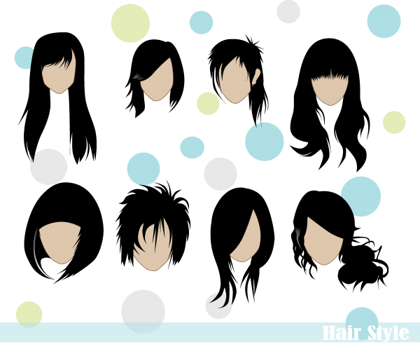 Hair Styles Vector png