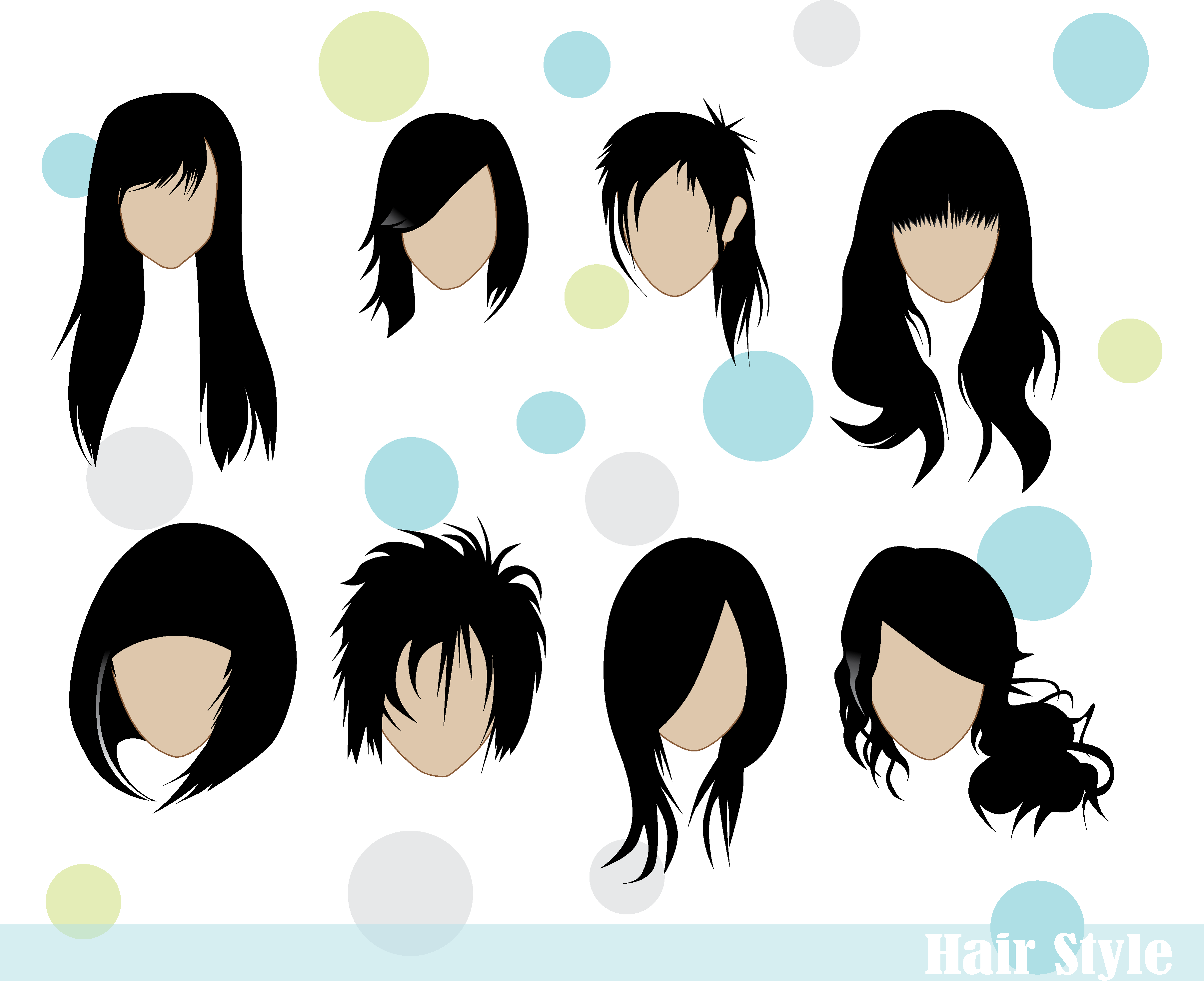Hair Style Png: Hair Styles Vector Vector Icon Template Clipart Free Download