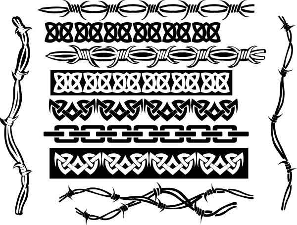 Tribal Borders Vector