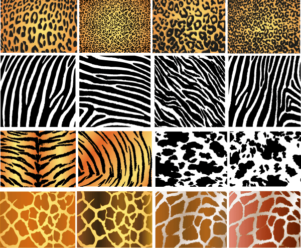 Animal skins texture 01 600x494 vector