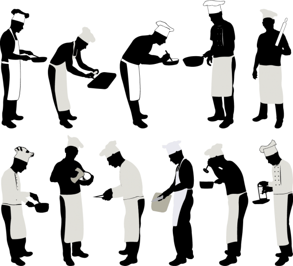 Chef Silhouettes 01 png