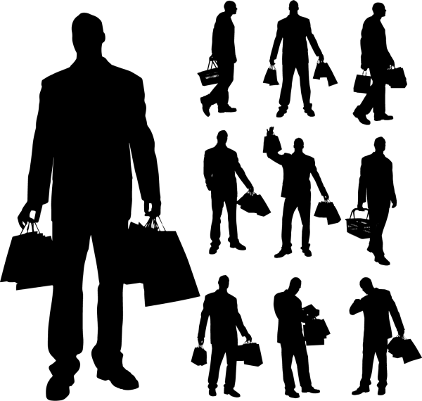Different Occupations Man Silhouettes 02 png