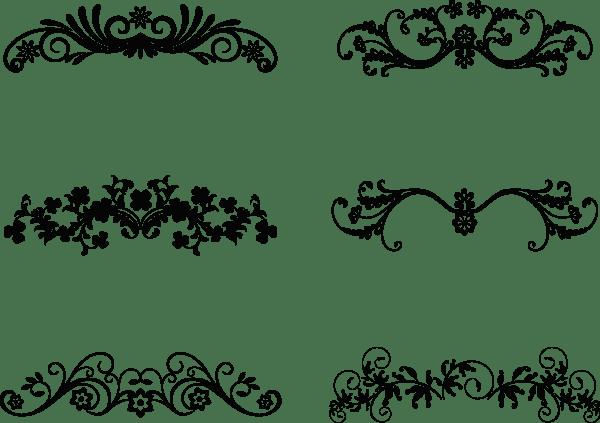 Floral Ornamental Design Elements 02 png