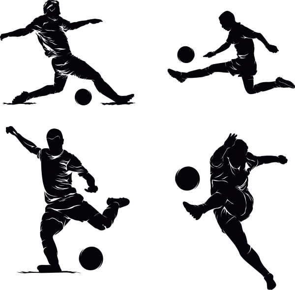 Football Silhouette 01 png