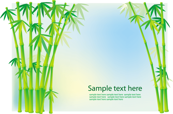 Bamboo and Grass Plant Vector 03 png