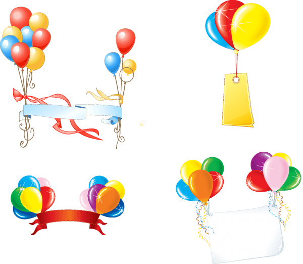 Party Balloons Vectors 01 png