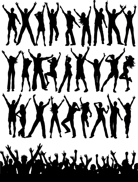 Party People Silhouettes 01 png