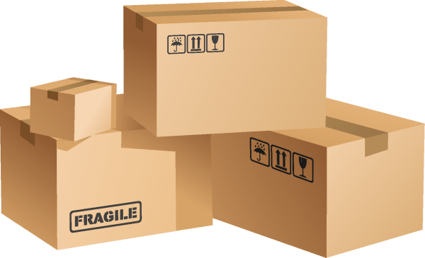 Cardboard Boxes 01 png