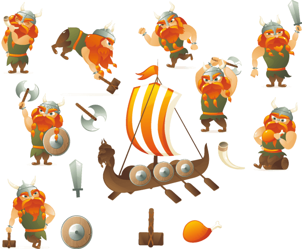 Cartoon Vikings Vector png