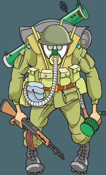 Cartoon Soldier Vectors 01 png