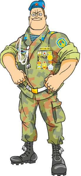Cartoon Soldier Vectors 01 png