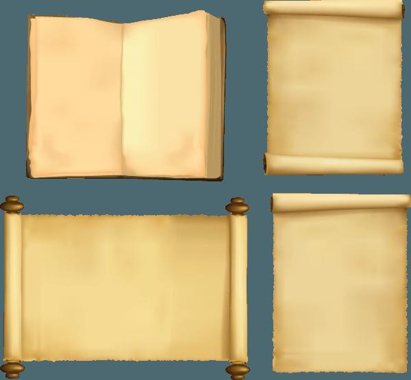 Classic Nostalgic Paper Scrolls