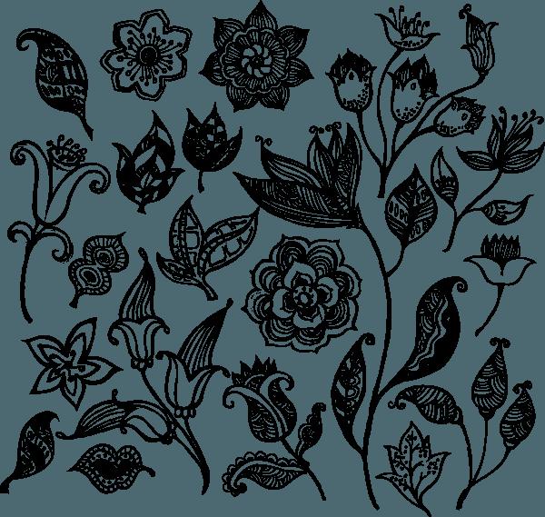 Flower Pattern Vector 01