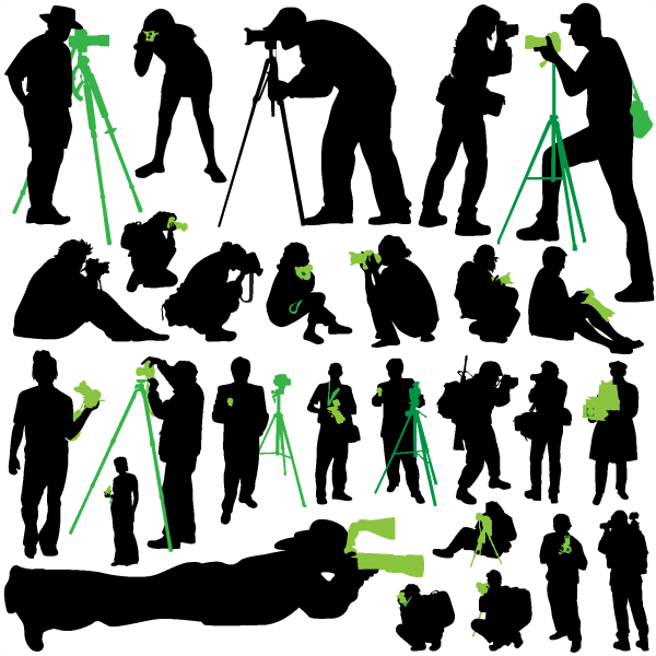 Photographer Silhouettes Vector png