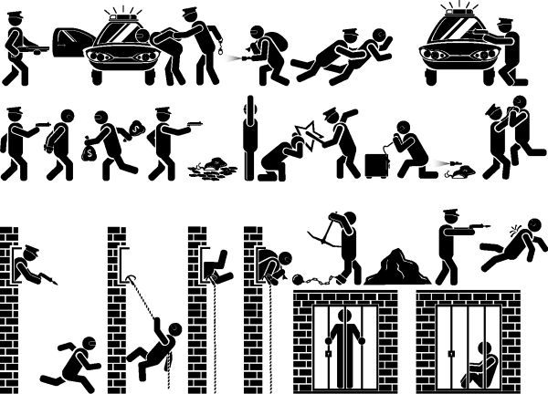 Police Silhouettes 01 png