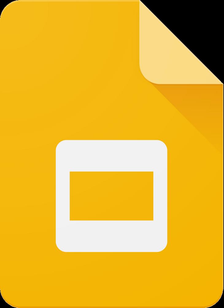 Google Slides Logo png