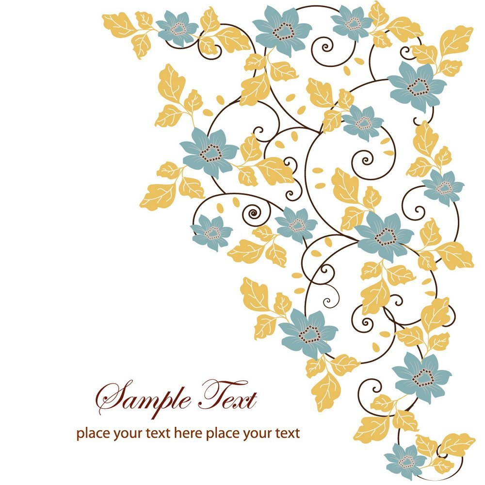 Floral Swirl Greeting Card png