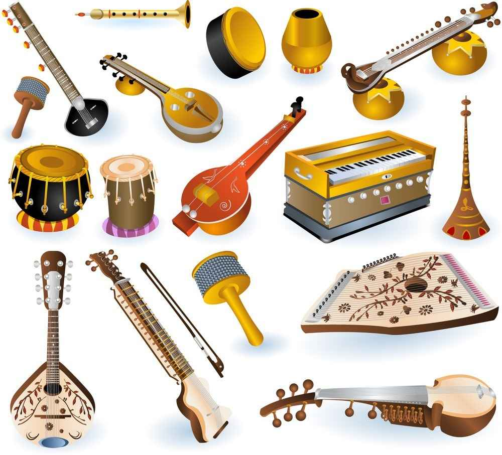 Indian Musical Instruments png