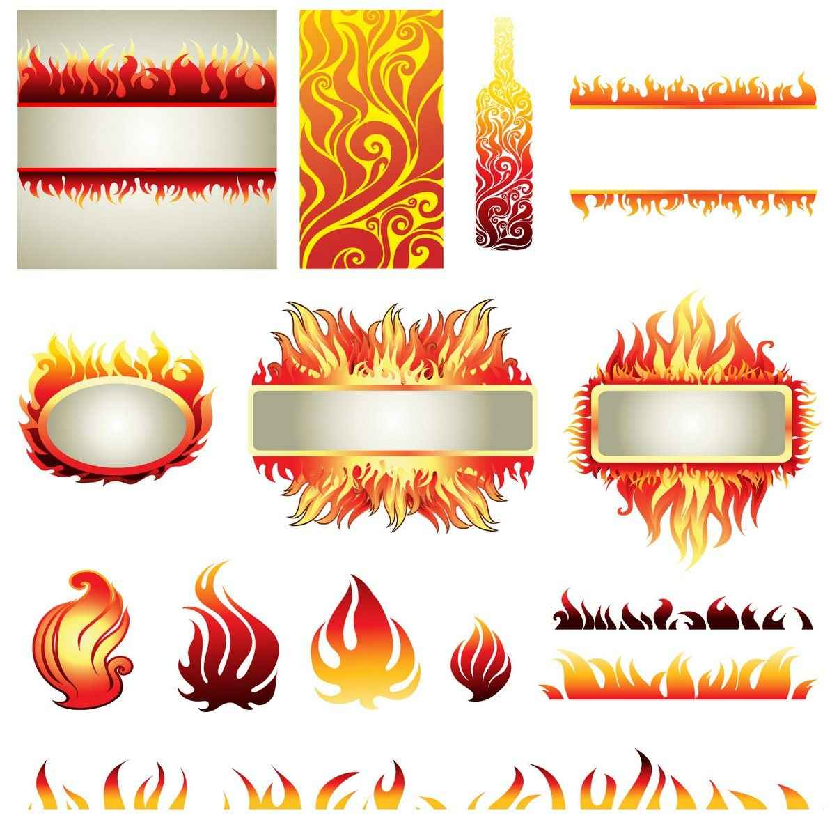Flame, Fire 06 png