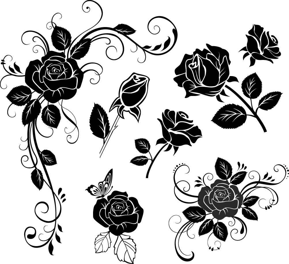 Hand painted flowers png