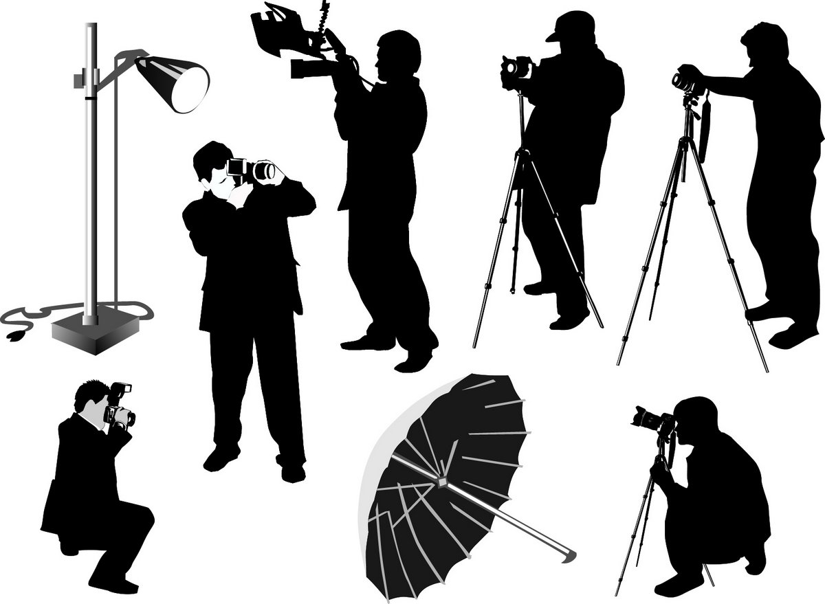 Photographer silhouette png