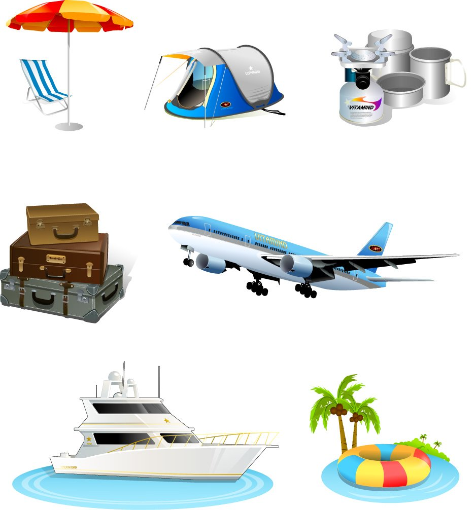 Tourism travel icon material png