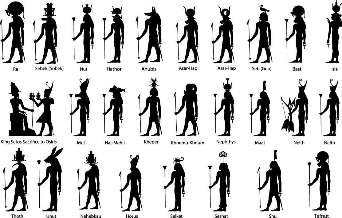 Ancient egypt silhouette png