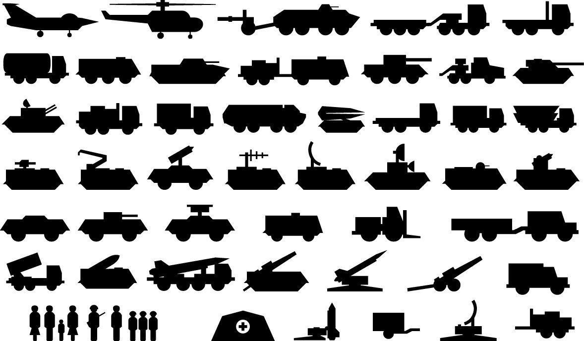Army vehicle icons png