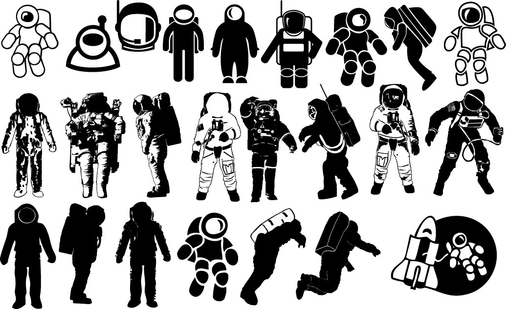Astronaut silhouettes png
