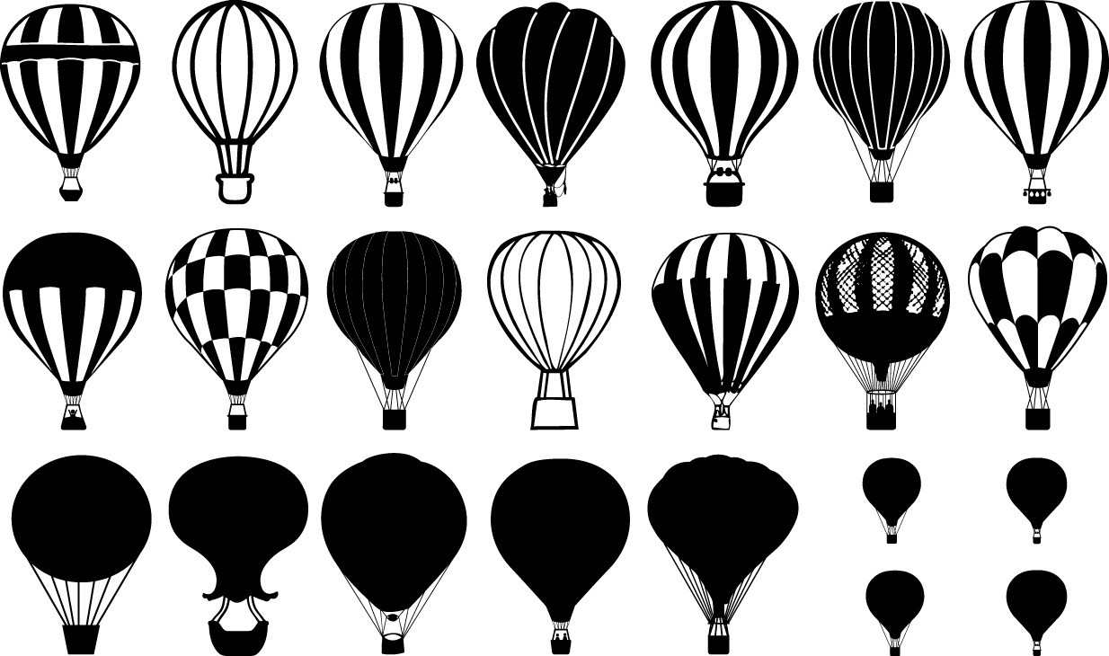 balloons silhouette png