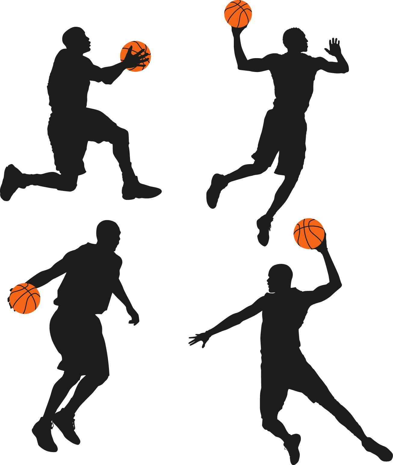 Basketball man silhouette png