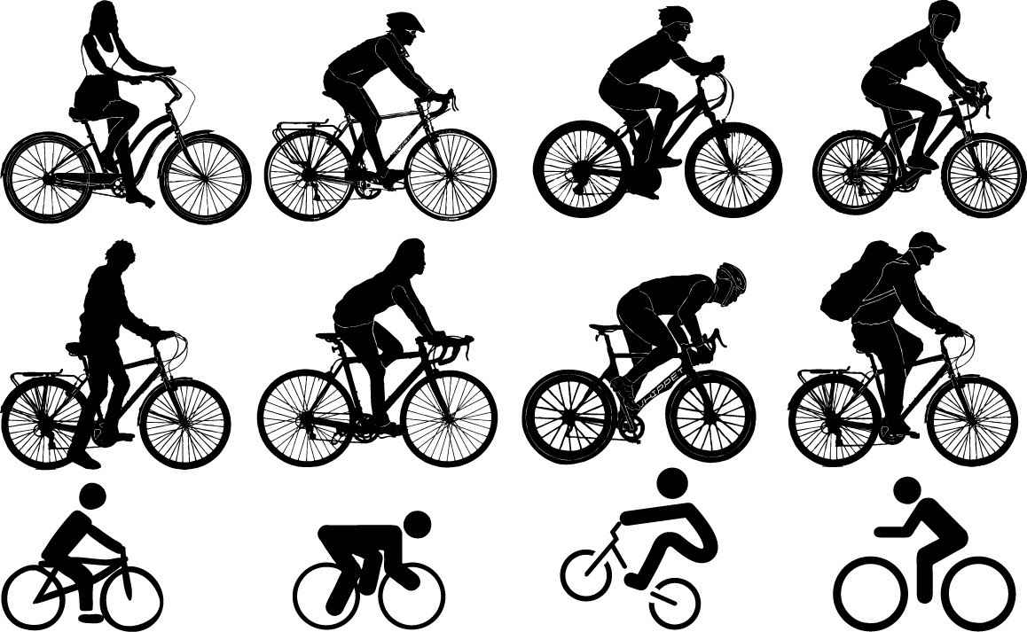 Bicyclist silhouette png