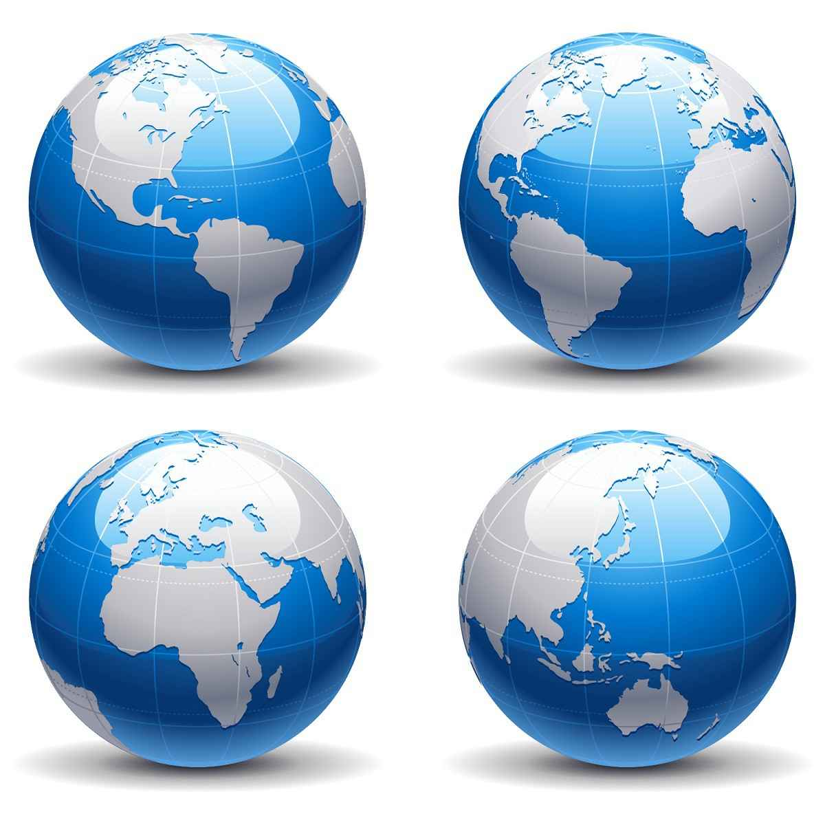 Blue earth globe png