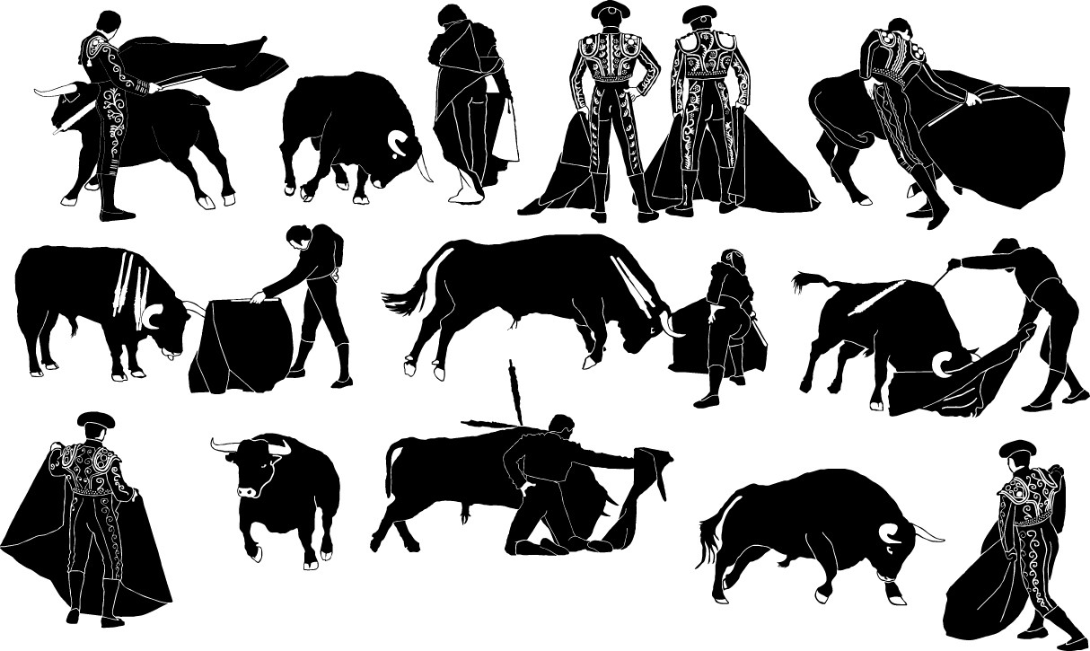 Bullfight silhouette png