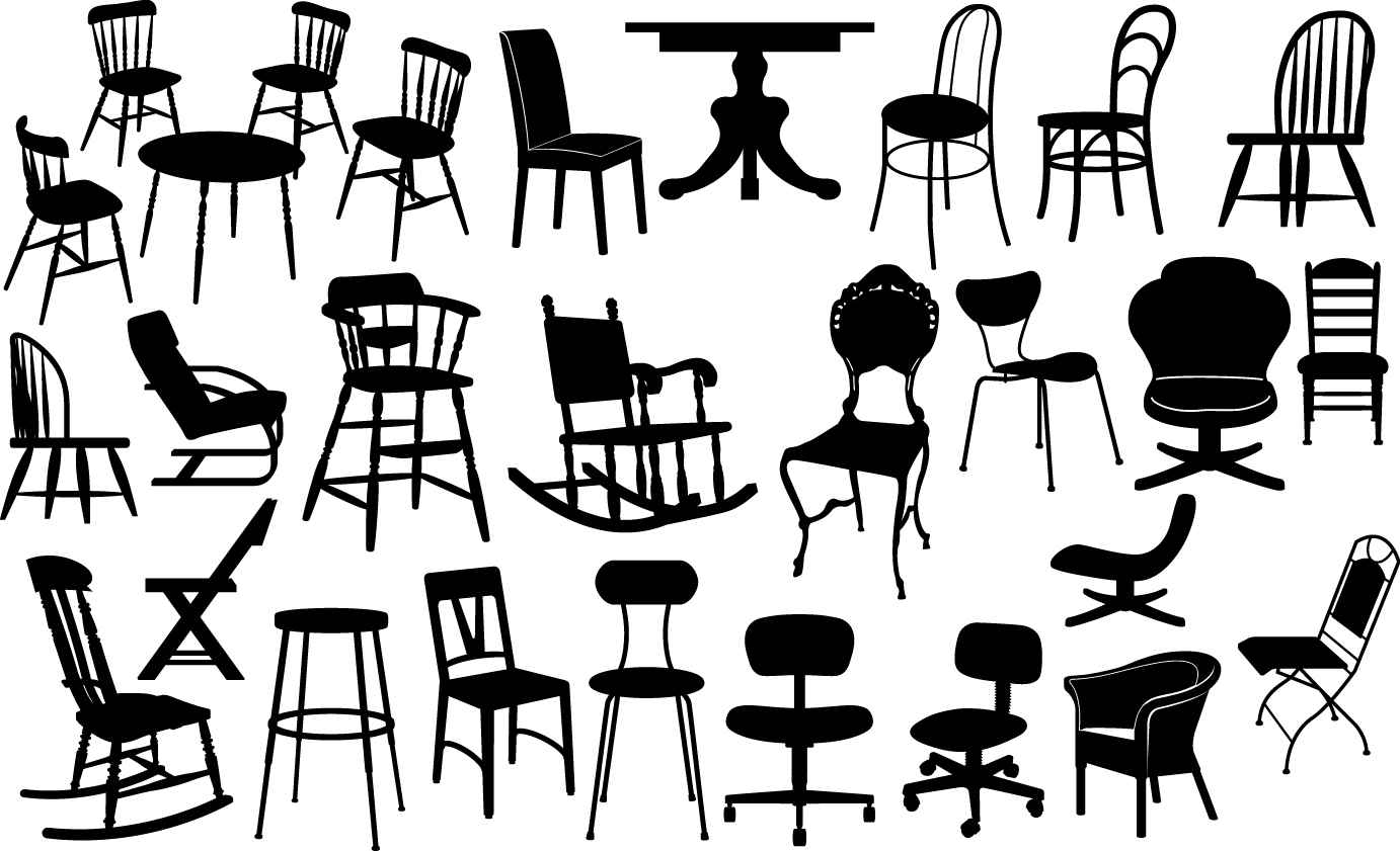 Chair silhouettes png