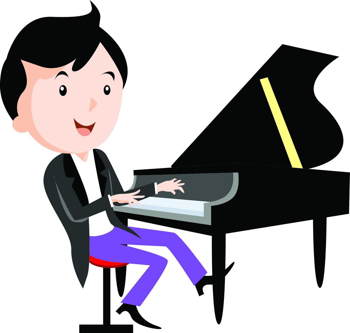 Children playing musical instruments   Piano png