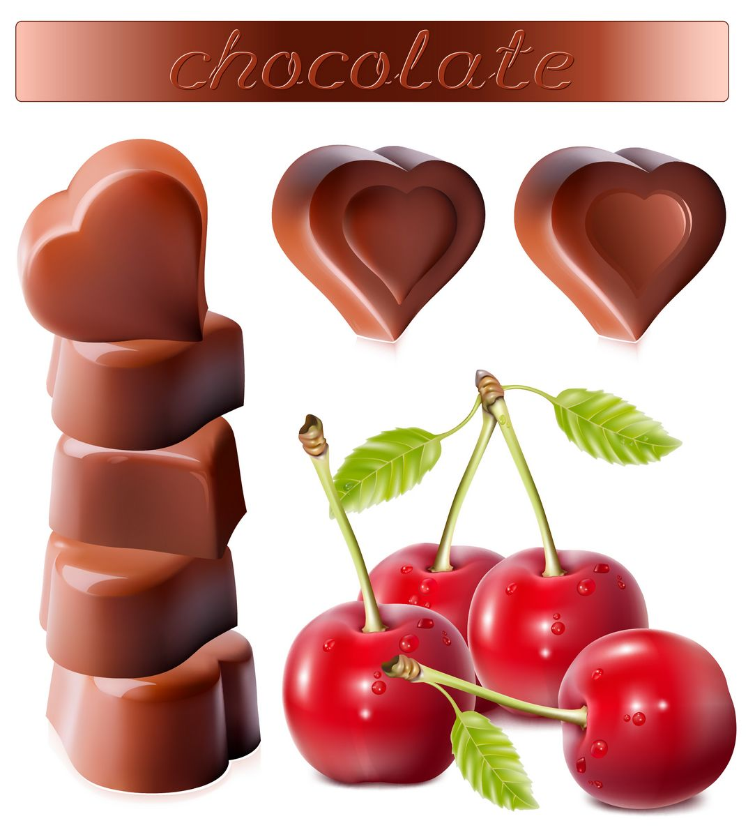 Chocolates and cherry png