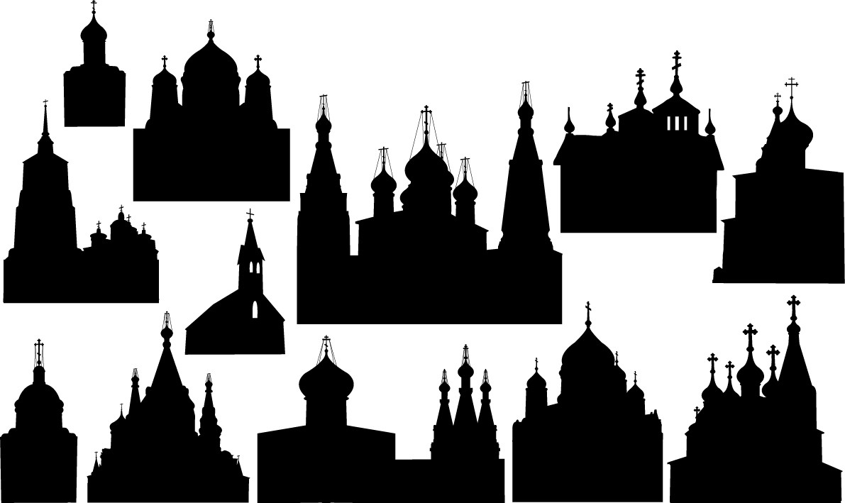 Christian church silhouettes png