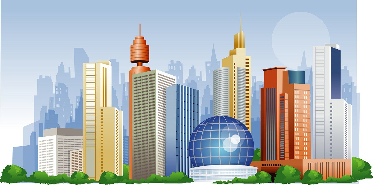 City high rise buildings png