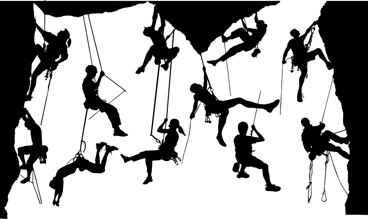 Climber silhouettes png