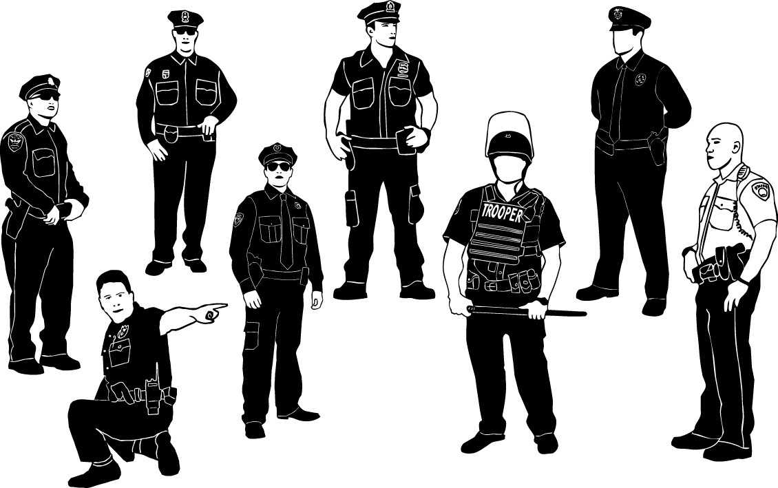 Cops policeman silhouettes png